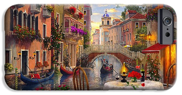 Buildings iPhone Cases - Venice Al fresco iPhone Case by Dominic Davison