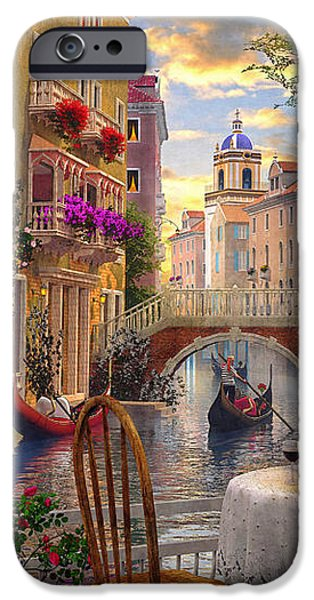 Venice Al fresco iPhone Case by Dominic Davison
