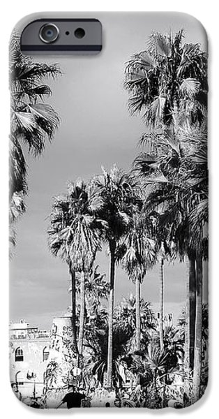 Venice Beach Palms iPhone Case by John Rizzuto