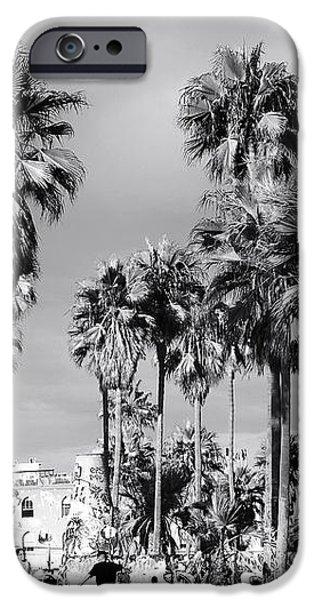Venice Beach Palms iPhone Case by John Rizzuto