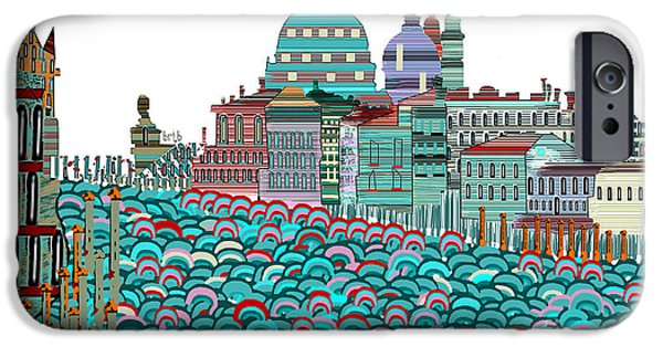 Buildings Mixed Media iPhone Cases - Venice Blues iPhone Case by Bri Buckley
