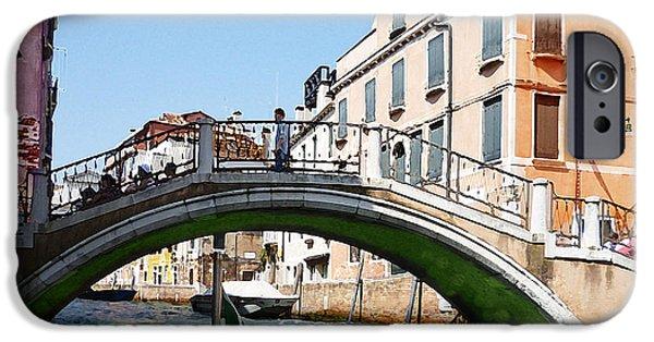 History Channel iPhone Cases - Venice Bridge iPhone Case by Irina Sztukowski