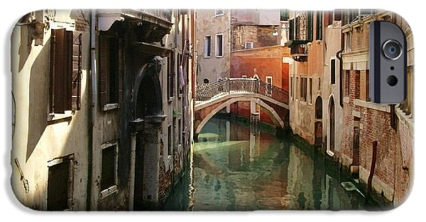 Venetian Balcony iPhone Cases - Venice Canal iPhone Case by Ellen Henneke