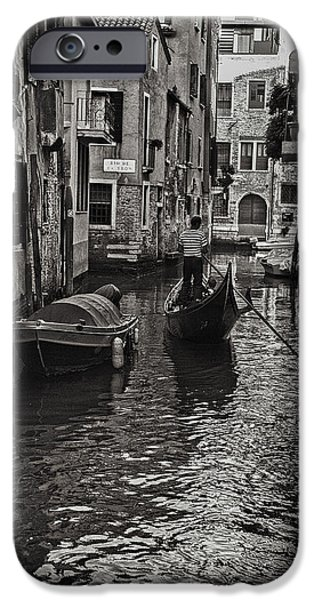 Tron iPhone Cases - Venice Canal Memory iPhone Case by Madeline Ellis