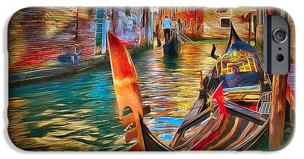 Nature Abstracts iPhone Cases - Venice canals beauty 4 iPhone Case by Yury Malkov
