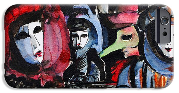 Carnival iPhone Cases - Venice Carnival 1 iPhone Case by Mona Edulesco