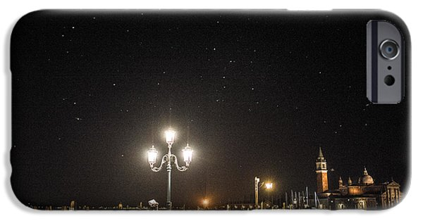 Night Lamp iPhone Cases - Venice carnival 15 II iPhone Case by Yuri Santin