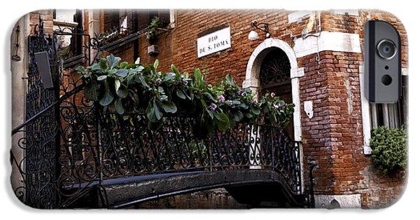 Venetian Doors iPhone Cases - Venice Crossings iPhone Case by John Rizzuto