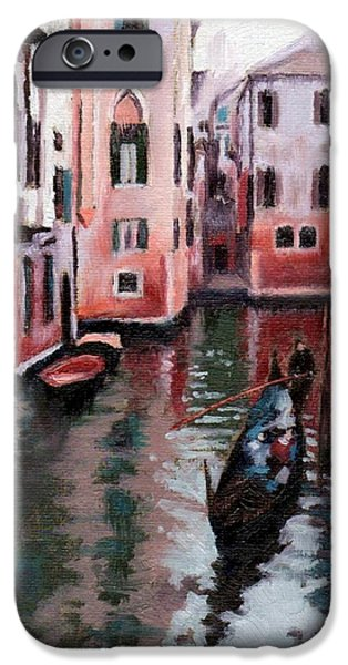 Janet King iPhone Cases - Venice Gondola Ride iPhone Case by Janet King