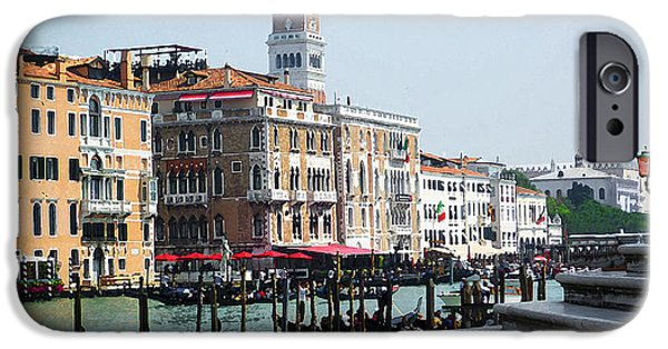 San Marco iPhone Cases - Venice Gondolas on Canal Grande iPhone Case by Irina Sztukowski