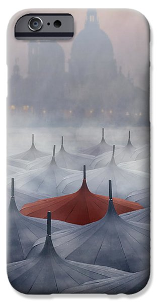 Abbey iPhone Cases - Venice in rain iPhone Case by Joana Kruse