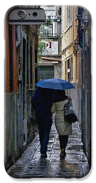 Rainy Day iPhone Cases - Venice in the Rain iPhone Case by Crystal Nederman