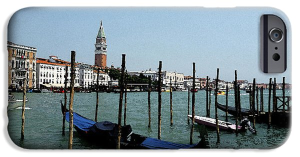 San Marco iPhone Cases - Venice Italy Gondola View on Doge Palace iPhone Case by Irina Sztukowski