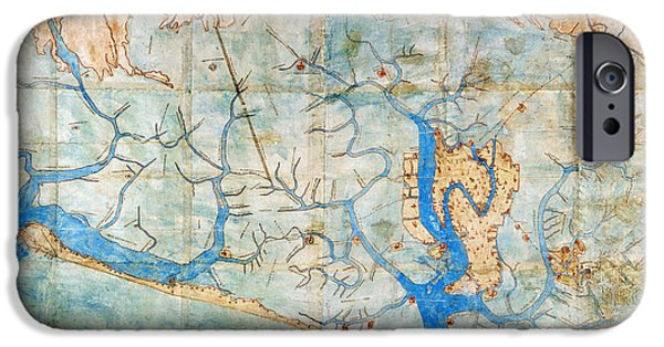 Carousel Collection iPhone Cases - Venice: Map, 1546 iPhone Case by Granger