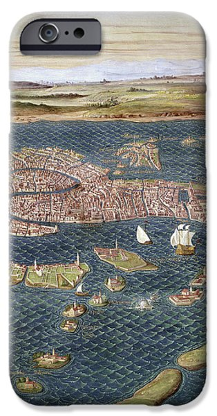 Carousel Collection iPhone Cases - Venice: Map, 16th Century iPhone Case by Granger