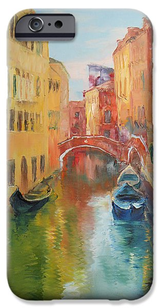 Boat iPhone Cases - Venice iPhone Case by Olga Pourtova