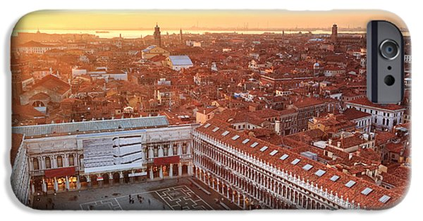 Citylife iPhone Cases - Venice roofs iPhone Case by Matteo Colombo