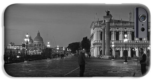 Piazza San Marco iPhone Cases - Venice sweepers iPhone Case by Marion Galt
