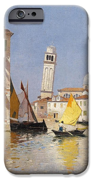 Rubens iPhone Cases - Venice.  View of San Pietro di Castello iPhone Case by Rubens Santoro