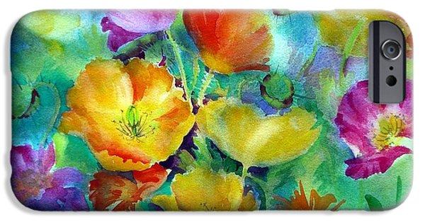Summer Celeste iPhone Cases - Ventana Poppies iPhone Case by Summer Celeste