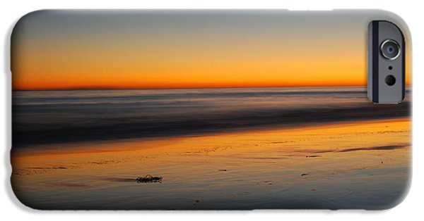 Abstract Seascape iPhone Cases - Ventura Beach Evening iPhone Case by Catherine Lau