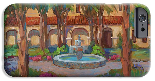 Mission San Rafael iPhone Cases - Ventura Mission iPhone Case by Diane McClary