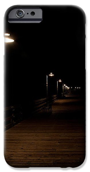 Ventura Pier at Night iPhone Case by John Daly