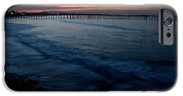 Ventura California iPhone Cases - Ventura Pier Sunrise iPhone Case by John Daly