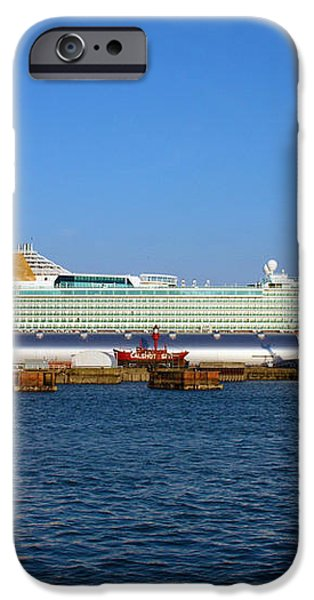 Ventura Sheildhall Calshot Spit and a Tug iPhone Case by Terri  Waters