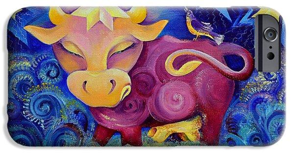Fertility Paintings iPhone Cases - Venus aka Zorya-Zoryanytza iPhone Case by Natalia Lvova