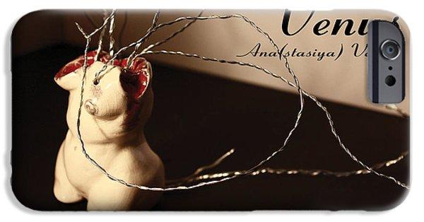 Creepy Sculptures iPhone Cases - Venus iPhone Case by Anastasiya Verbik