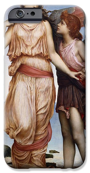 Cupid iPhone Cases - Venus and Cupid iPhone Case by Evelyn De Morgan