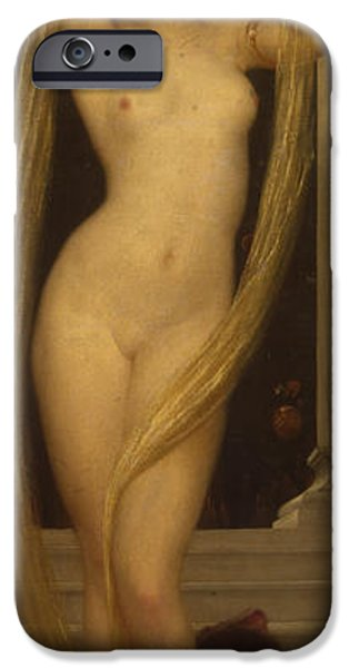 Mythological iPhone Cases - Venus and Cupid iPhone Case by Frederic Leighton