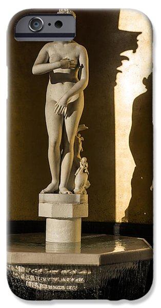 Seductive iPhone Cases - Venus de Medici and Her Shadow  iPhone Case by Georgia Mizuleva