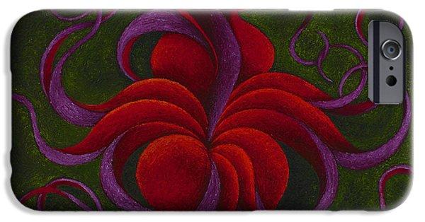 Deep Space Art Paintings iPhone Cases - Venus Goddess of Love iPhone Case by Karen Balon