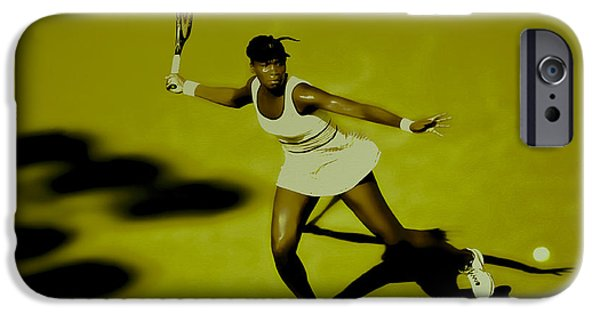 Wta Digital Art iPhone Cases - Venus Williams in Action iPhone Case by Brian Reaves
