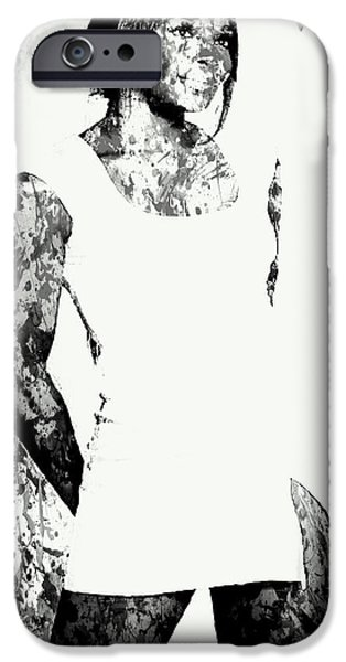 French Open Digital iPhone Cases - Venus Williams Paint Splatter 2c iPhone Case by Brian Reaves