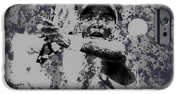 Wta iPhone Cases - Venus Williams Paint Splatter 2e iPhone Case by Brian Reaves