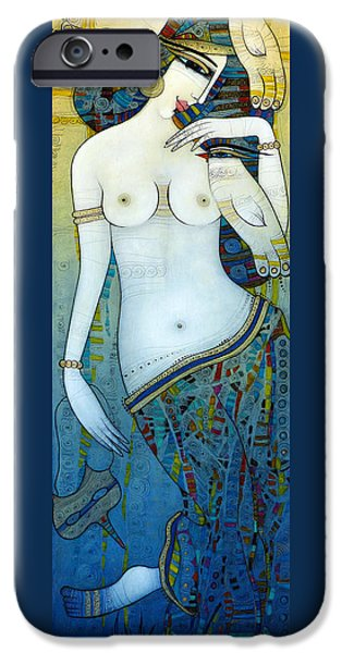 Albena iPhone Cases - Venus With Doves iPhone Case by Albena Vatcheva