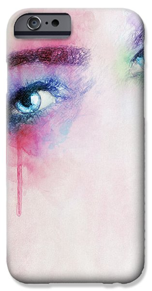 Torn Drawings iPhone Cases - Vera iPhone Case by Taylan Soyturk