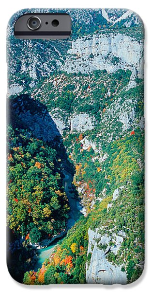 Autumn iPhone Cases - Verdon Gorge In Autumn iPhone Case by Panoramic Images