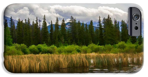 Jordan iPhone Cases - Vermilion Lakes iPhone Case by Jordan Blackstone
