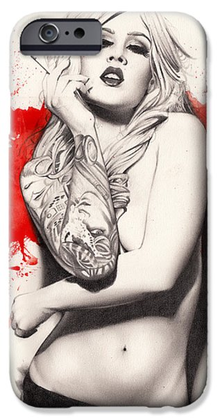 Pete iPhone Cases - Vermillion iPhone Case by Pete Tapang