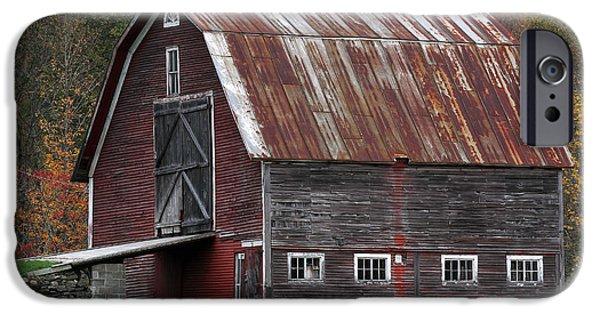 Vermont Barn Art iPhone Case by Juergen Roth