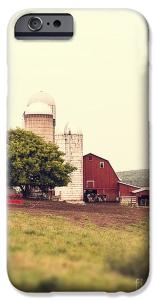 Farming Barns iPhone Cases - Vermont Family Farm iPhone Case by Edward Fielding