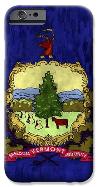 Vermont Flag iPhone Case by World Art Prints And Designs