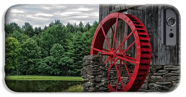 Grist Mill iPhone Cases - Vermont Grist Mill iPhone Case by Edward Fielding