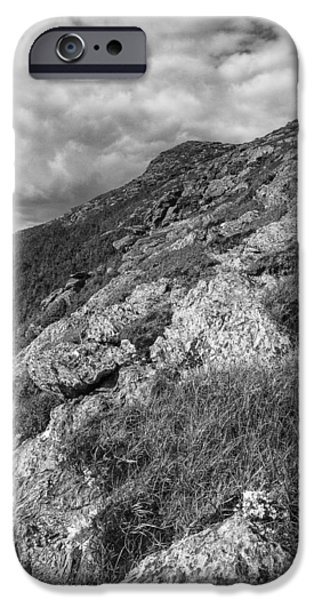 Recently Sold -  - Drama iPhone Cases - Vermont-Mount Mansfield Summit-Black and White iPhone Case by Andy Gimino