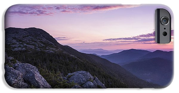 Nature Scene Photographs iPhone Cases - Vermont Mount Mansfield sunrise Green Mountains iPhone Case by Andy Gimino