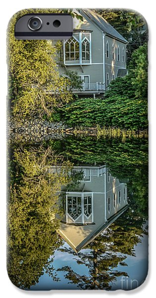 Quechee iPhone Cases - Vermont Reflections iPhone Case by Edward Fielding